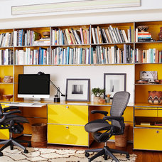 Contemporary Home Office by Jessica Jubelirer Design