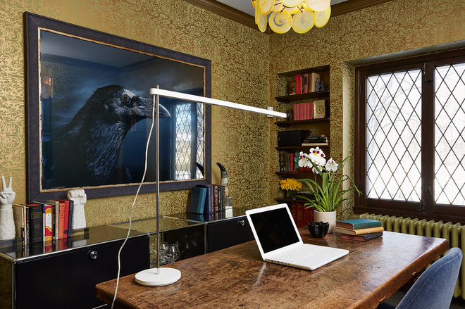 Eclectic Home Office by Andrew Flesher Interiors