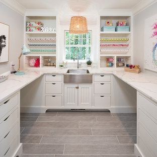 75 Most Popular Beach Style Craft Room Design Ideas For 2019