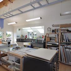Contemporary Home Office by Ventana Construction LLC