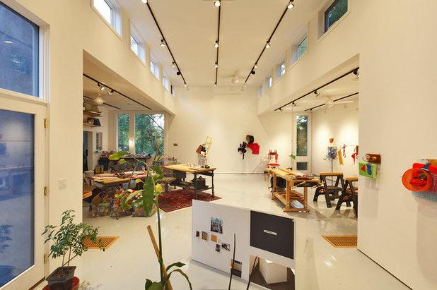 Modern Home Office by Joseph Bergin Architect PC