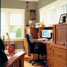 Craftsman Home Office by Morgante Wilson Architects