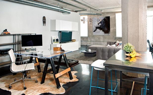 Industrial  Arbeitszimmer by Caitlin & Caitlin Design Co.