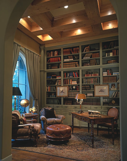 traditional home office by Design Basics Home Plans
