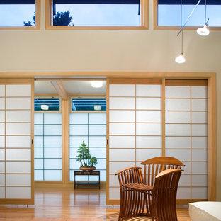 ボストンのアジアンスタイルのおしゃれなホームオフィス・仕事部屋の写真