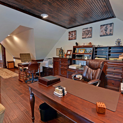 Example of a classic freestanding desk home office design in Atlanta