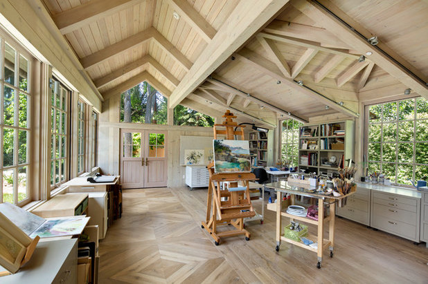 Traditional Home Office by Conrado - Home Builders