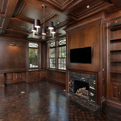 traditional home office by Markay Johnson Construction