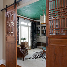 Transitional Home Office by Jennifer Reynolds - Jennifer Reynolds Interiors