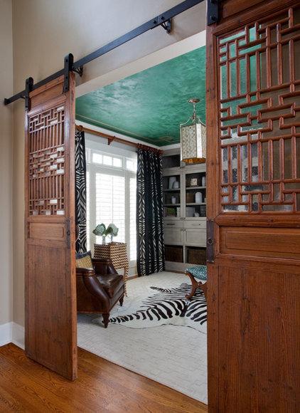 Transitional Home Office by Jennifer Reynolds - Jennifer Reynolds Interiors