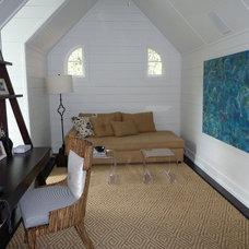 Eclectic Home Office by Suze Surdyk Jones Interiors