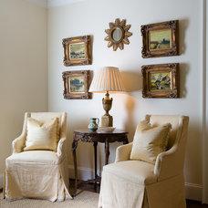 Traditional Home Office by Kathleen Kellett Interiors