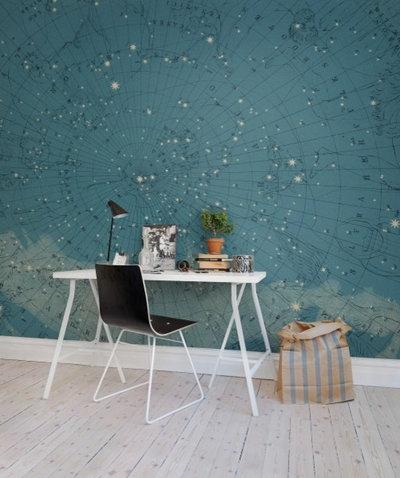 Moderne Bureau à domicile by Rebel Walls