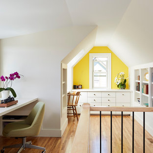 75 Most Popular Home Office With Yellow Walls Design Ideas For 2019