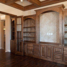 Traditional Home Office by Joseph Paul Homes