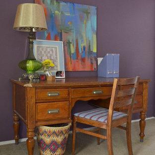 オースティンのエクレクティックスタイルのおしゃれなホームオフィス・書斎の写真