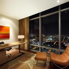 Contemporary Home Office by VERVANO