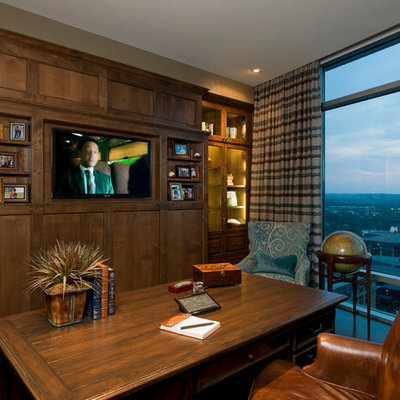 Example of a trendy freestanding desk home office design in Austin