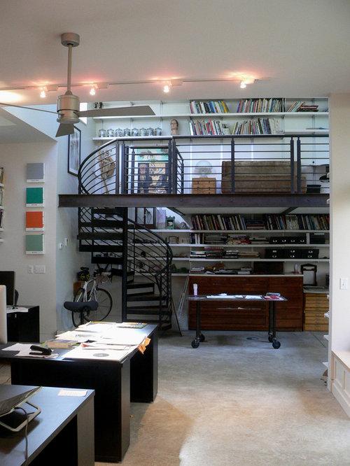 2 000 industrial home office design ideas remodel. Black Bedroom Furniture Sets. Home Design Ideas