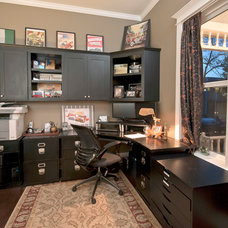 Traditional Home Office by Coleman Creek Construction