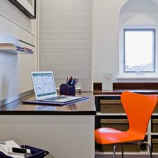 Modern Home Office by David Sharff Architect, P.C.