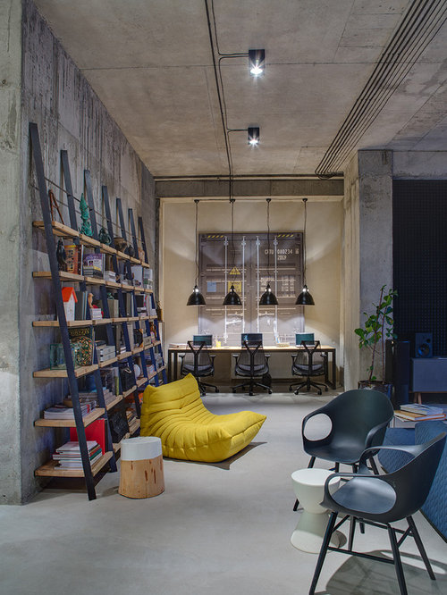 Industrial Home Office Design Ideas Renovations Photos: industrial home office design ideas