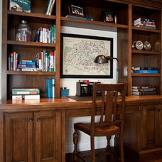 Traditional Home Office by James Glover Residential & Interior Design