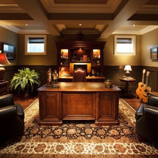 Traditional Home Office by Stephens Fine Homes Ltd