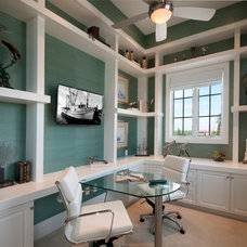 Transitional Home Office by Design Studio by Raymond