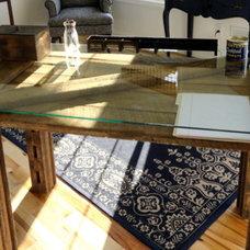 Tropical Home Office Barn door desk