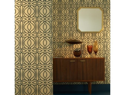 Modern Home Office Baroque Wallpaper from Design Public. So Your Style Is  Midcentury Modern