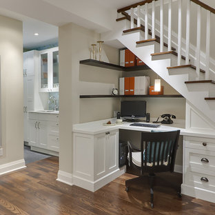 Basement Desk Under The Stairs