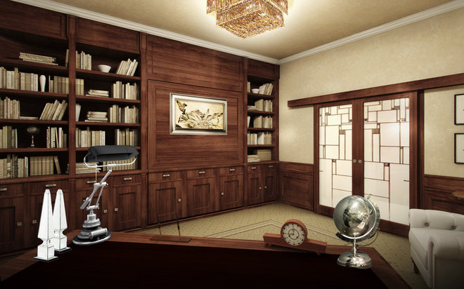 Contemporary Home Office by Art&deco
