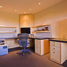 Contemporary Home Office by Bill Fry Construction - Wm. H. Fry Const. Co.