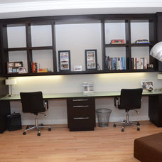 Contemporary Home Office by Globus Builder