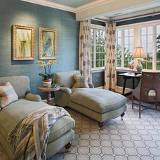 Traditional Home Office by Bruce Palmer Coastal Design
