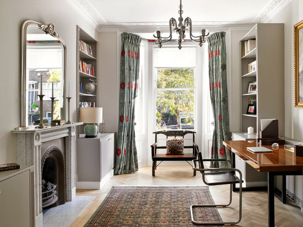 Victorian Home Office & Library by Clare Gaskin