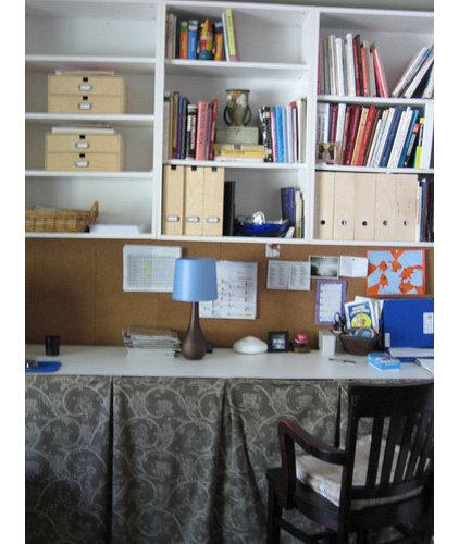 Eclectic Home Office by M.A.D. Megan Arquette Design