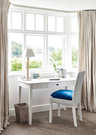 Coastal Home Office & Library by Adam Carter Photo