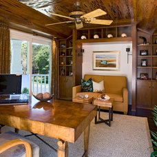 Contemporary Home Office by Bruce Palmer Coastal Design
