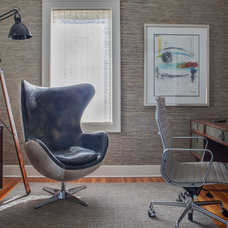 Transitional Home Office by Kati Curtis Design