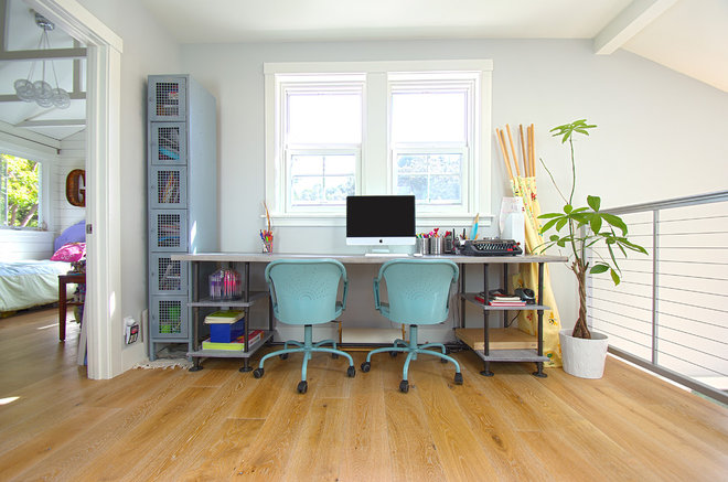 Beach Style Home Office by G Family, Inc.