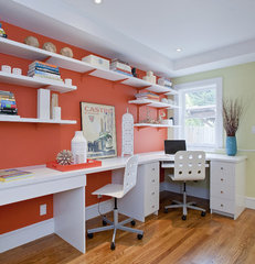 contemporary home office by Melissa Lenox Design
