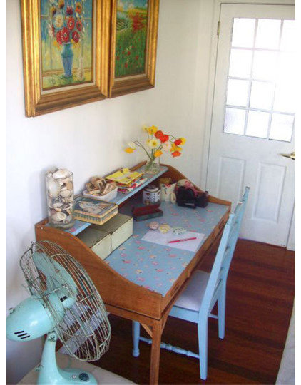 Eclectic Home Office by Beach Vintage