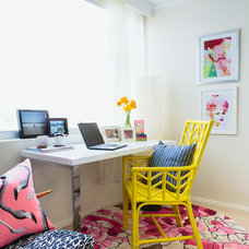 Beach Style Home Office by The Home