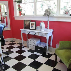 Eclectic Home Office BeColorful Home Office - Hers