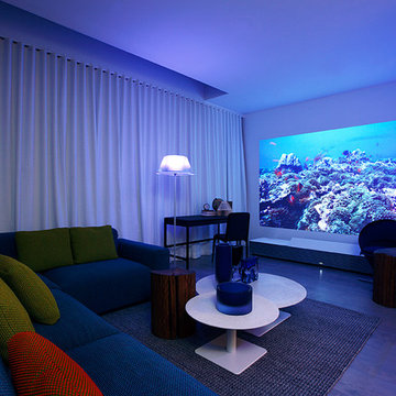 """""""Bedroom Escape"""" designed by ddc for Sony 4K Ultra Short Throw Projector"""