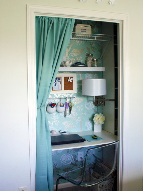 Closet office houzz Closet home office design ideas
