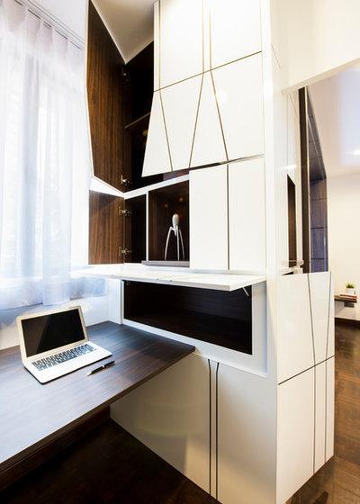 Contemporary Home Office & Library by Proj. B Studio