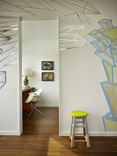 Contemporary Home Office & Library by chadbourne + doss architects